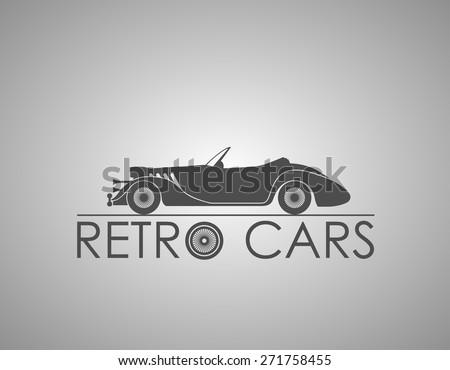 Retro cars logo - stock vector