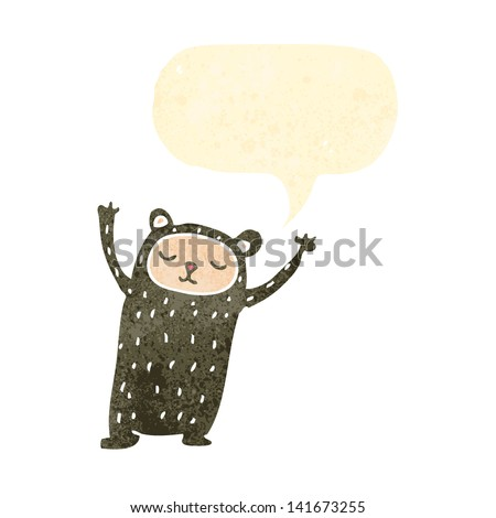retro cartoon bear - stock vector