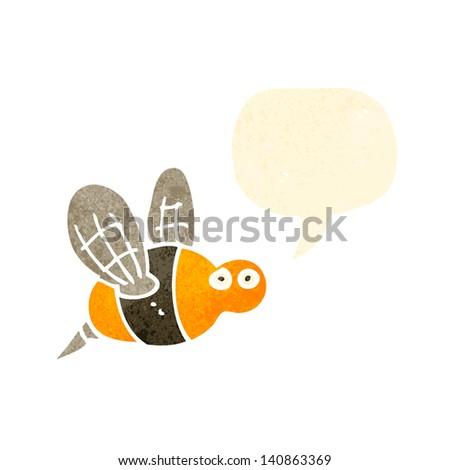 retro cartoon bee - stock vector