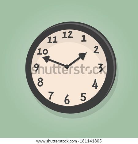 retro cartoon clock - stock vector