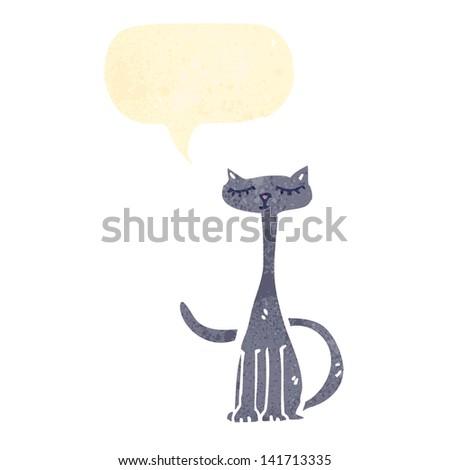 retro cartoon cute cat - stock vector