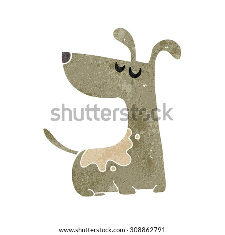 retro cartoon happy dog - stock vector