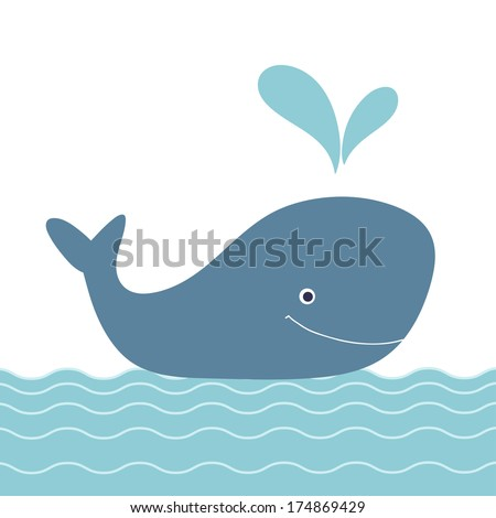 retro cartoon whalebaby shower invitation beautiful happy birthday greeting card with whale and