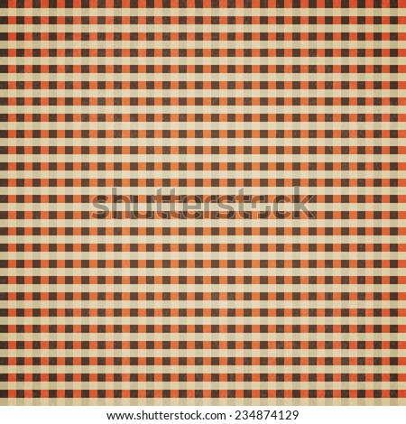 Retro checkers background, Old paper with stains - Vector - stock vector