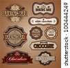 Retro Chocolate Vintage Labels - stock vector