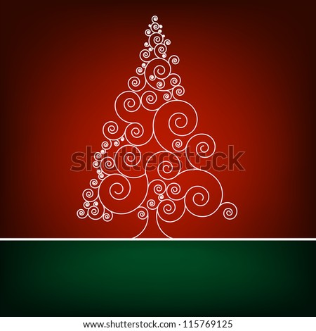 Retro christmas card Template. EPS 8 vector file included - stock vector