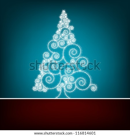 Retro christmas card Template. EPS 8 vector file included