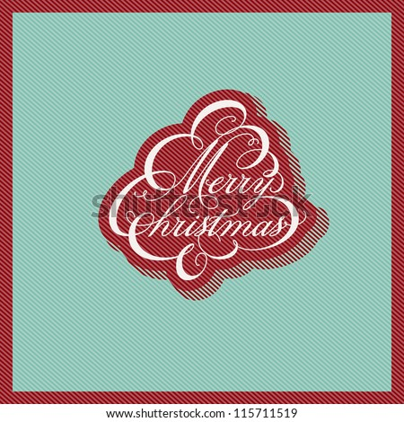 Retro Christmas design. Vector illustration. - stock vector