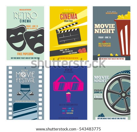 Cinema stock images royalty free images vectors for Film festival brochure template