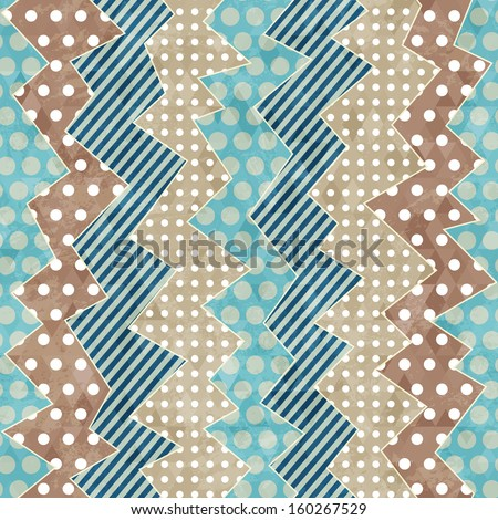 retro cloth seamless pattern with grunge effect - stock vector