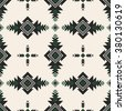 retro color tribal Navajo vector seamless pattern. aztec fancy abstract geometric art print. ethnic hipster backdrop. Wallpaper, cloth design, fabric, paper, cover, textile design template. - stock photo