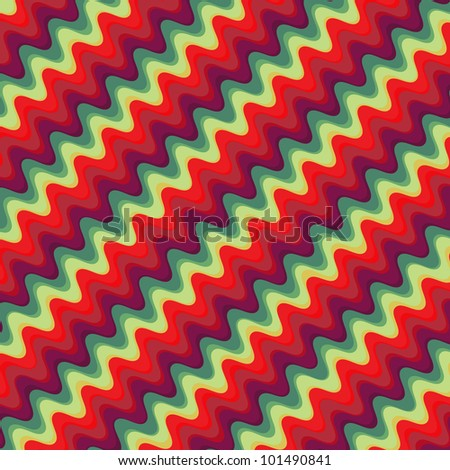 Retro color zigzag pattern - stock vector
