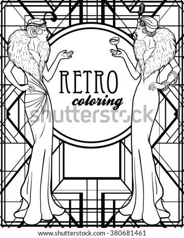 1920s coloring pages for kids | Flapper Stock Images, Royalty-Free Images & Vectors ...