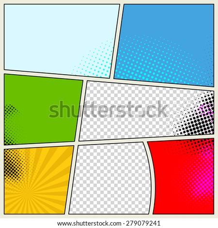 Retro Comic Book Vector Background - stock vector