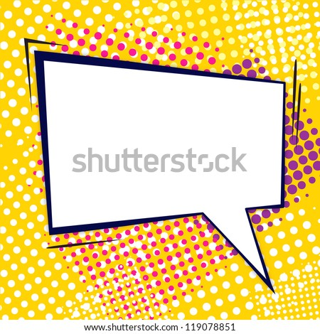 Retro comic bubble - stock vector