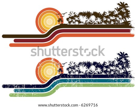 retro composition, different colors combination - stock vector