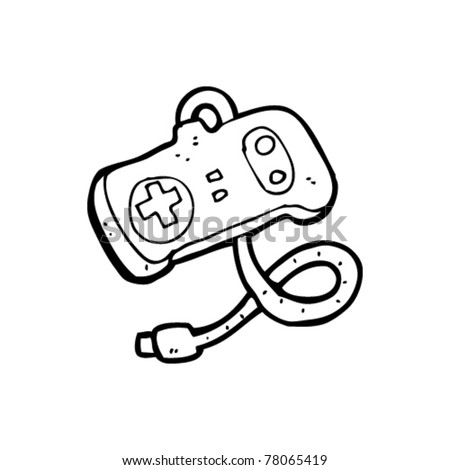 retro console controller cartoon