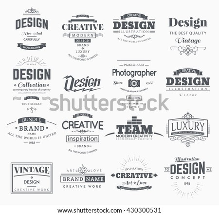 Retro creative vintage labels template logo stock vector 2018 retro creative vintage labels template and logo set vector design elements business signs branding accmission