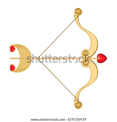 Cupid Bow Icon Arrow Heart Stock Vector 525831874 ...