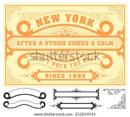 Retro design - stock vector