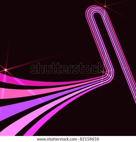 Retro disco background with spotlight effect - stock vector