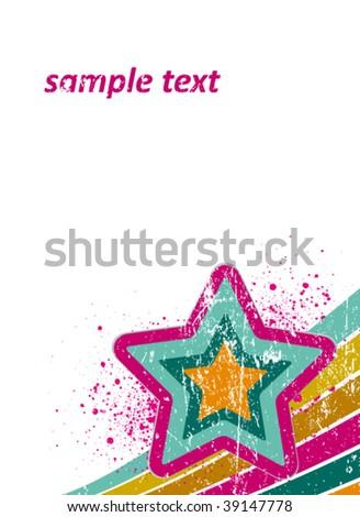 retro disco poster - stock vector