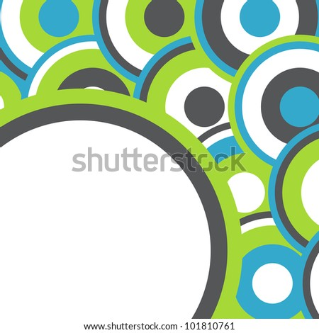 Retro dot and round background vector - stock vector