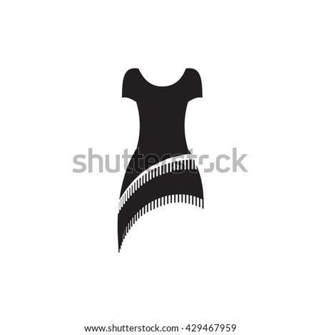 Retro Dress Vector Icon. Retro Dress Icon Black. Retro Dress Icon EPS. Retro Dress Icon Simple. Retro Dress Icon Vector. Retro Dress Icon Sign. Retro Dress Icon Shape. Retro Dress Icon 1920s.  - stock vector