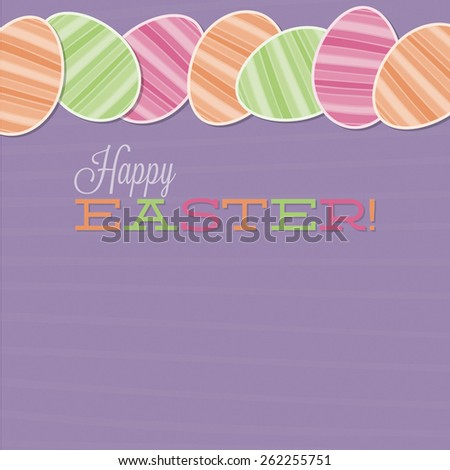 Retro Easter egg card in vector format. - stock vector