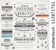 Retro elements for calligraphic designs | Vintage ornaments | Premium Quality labels | Guaranteed, Coffee and Genuine labels | eps10 vector set - stock