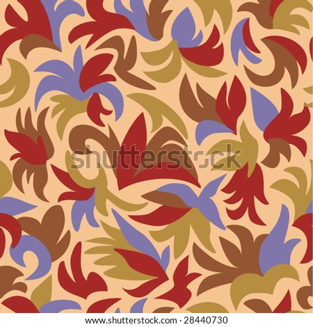 Retro Floral Pattern - Vector