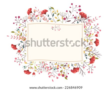 Retro flower for wedding invitation - stock vector