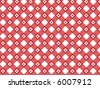 retro flower red plaid pattern (vector) - stock vector