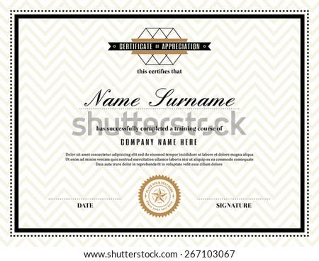 certificate of appreciations