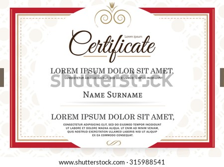 Retro frame certificate template vector stock vector hd royalty retro frame certificate template vector yelopaper Image collections