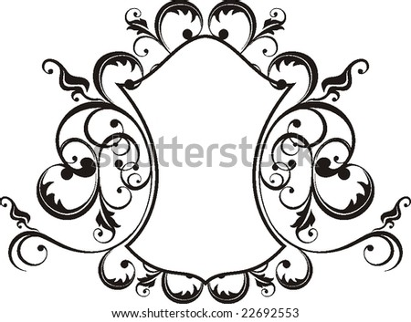 retro frame in vector format, very easy to edit, individual objects! - stock vector