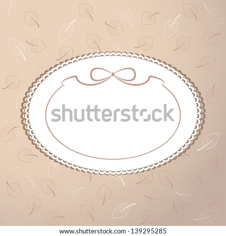 Retro frame with blank space for text - stock vector