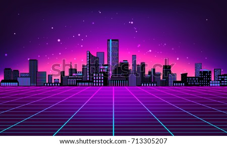 retro futuristic abstract background made 80s stock vector