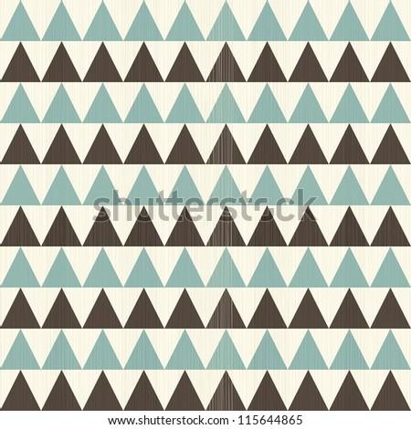 retro geometric triangles seamless pattern - stock vector