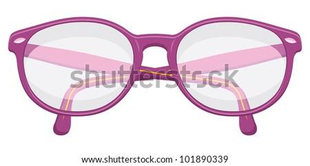 Retro glasses - stock vector
