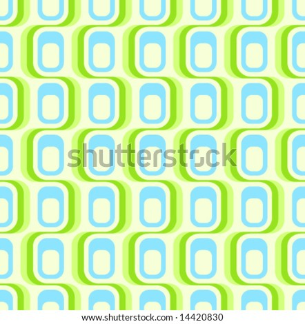 Retro green blue seamless pattern, tiles in any direction. - stock vector