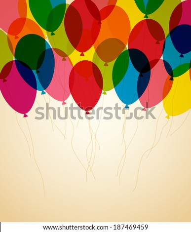 Retro greeting card Happy birthday with place for text - stock vector