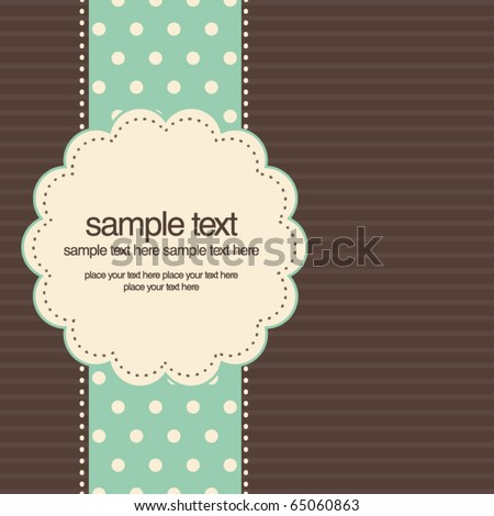 Retro greeting card template design - stock vector