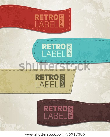 Retro grunge labels - stock vector