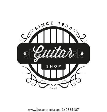 Retro Guitar Shop Logo