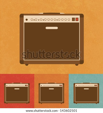 Retro Icons - Amplifier - stock vector