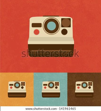 Retro Icons - Cool Camera - stock vector