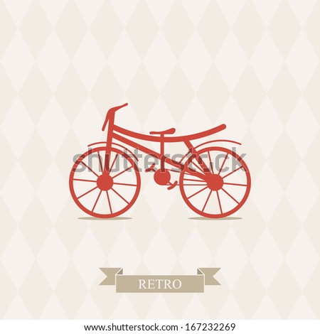 Retro Illustration Bicycle. - stock vector