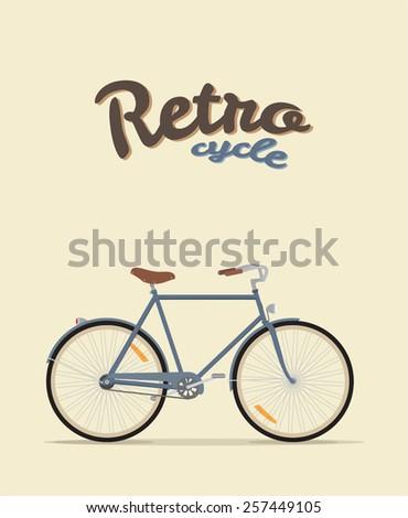 Retro Illustration bicycle - stock vector