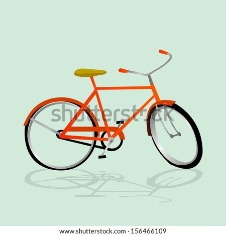 Retro Illustration Bicycle. Illustration of bicycle. Vector card with bicycle. Simple illustration of bicycle. Vintage bicycle. - stock vector